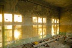 Vieux magasin abandonné à la ville fantôme Image libre de droits