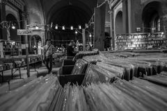 Vieux magasin record 3 Image stock