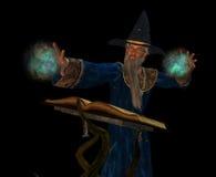 Vieux magicien illustration libre de droits