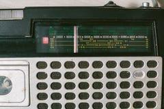 Vieux magnétophone à cassettes Vue supérieure Image libre de droits
