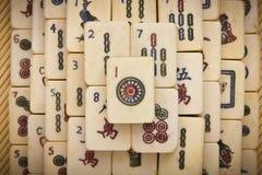 Vieux mahjongg chinois de jeu Photo libre de droits