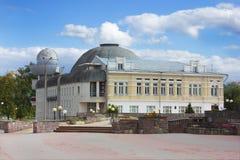 Vieux mais populaire planétarium dans Nijni-Novgorod Photos libres de droits