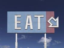 Vieux mangez le signe de flèche Images stock