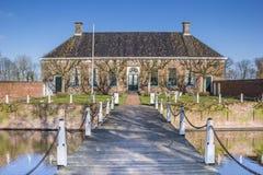 Vieux manoir néerlandais Verhildersum près de Leens Photos libres de droits