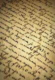 Vieux manuscrit Images stock