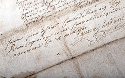 Vieux manuscrit photo stock