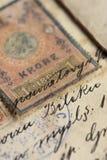 Vieux manuscrit Photos stock