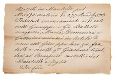 Vieux manuscrit photo libre de droits
