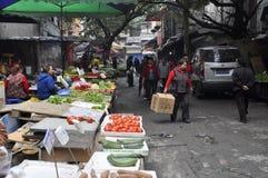 Vieux marché végétal Image stock
