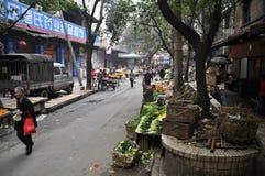 Vieux marché végétal Photographie stock