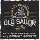 Vieux marin Vintage Label Poster Images stock