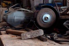 Vieux marteau photo libre de droits