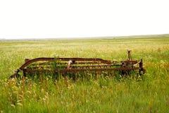 Vieux matériel de ferme Photo stock