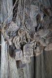 Vieux matériel de pêche Photos stock