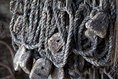 Vieux matériel de pêche Image stock