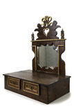 Vieux meuble avec les tiroirs et le miroir photos libres de droits