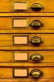 Vieux meuble d'archivage Images stock