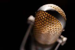 Vieux microphone Photos libres de droits