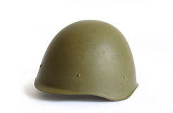 vieux militaire de casque Images libres de droits