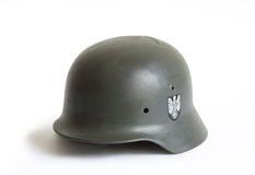 vieux militaire de casque Images stock