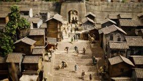 Vieux modèle de la maison de la Chine images libres de droits