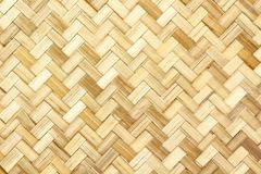 Vieux modèle de tissage en bambou, texture tissée de tapis de rotin pour le fond image libre de droits