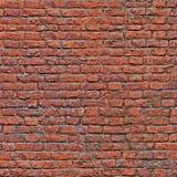 Vieux modèle rouge sans couture de mur de briques Images libres de droits