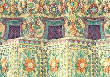 Vieux modèles de carreau de céramique floral et Images libres de droits