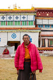 Vieux moine tibétain Photo libre de droits