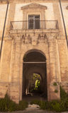Vieux monastère dans le sicilu Photos stock