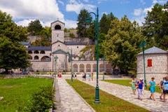 Vieux monastère en pierre dans Cetinje, Monténégro image libre de droits