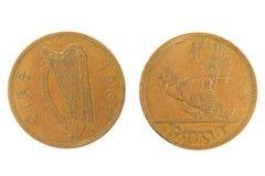 Vieux monet irlandais. Images stock