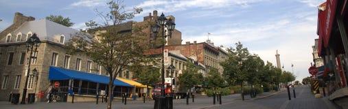Vieux Montréal en été Photos libres de droits