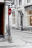 Vieux-Montreal Street. This image was taken in Vieux-Montreal, Canada and shows a street scene Stock Photography