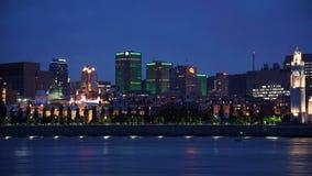 Vieux Montreal w nocy Zdjęcia Royalty Free