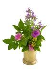 Vieux mortier et bouquet d'herbe Photo stock