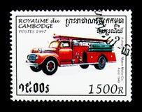 Vieux moteur Co de Maxin de véhicule Traversez à gué, 1949, serie de camions de pompiers, vers Images libres de droits