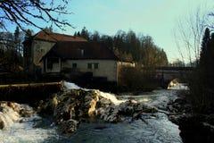 Vieux moulin à eau photo stock