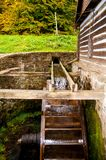Vieux moulin à eau Photos stock