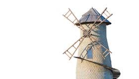 Vieux moulin à vent d'isolement Photographie stock libre de droits