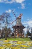 Vieux moulin à vent historique à la ville de Brême Image libre de droits