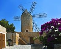 Vieux moulin à vent, Majorca, Espagne Photos libres de droits