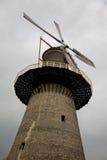 Vieux moulin à vent néerlandais Un des 5 moulins à vent classiques les plus grands du monde Photographie stock libre de droits