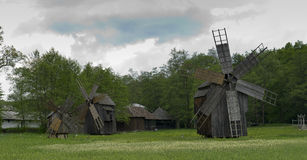 Vieux moulin à vent Sibiu Roumanie Images stock