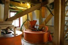 Vieux moulin de lin textile Images libres de droits
