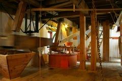 Vieux moulin de lin textile Photographie stock