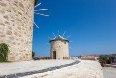 Vieux moulin en pierre dans Alacati Photographie stock