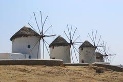 Vieux moulins à vent Image libre de droits