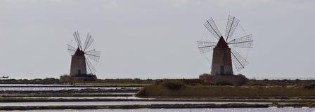 Vieux moulins de mer Images libres de droits