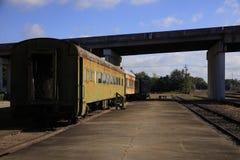 Vieux méridien Mississippi de station des syndicats de voitures du train de voyageurs Photo libre de droits